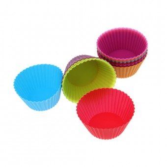 12 piece Silicone Cupcake Moulds