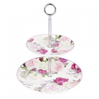 Vintage Roses Cake Stand
